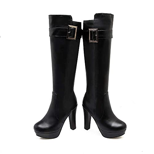 ca15cfd2bec59 Botas largas de Plataforma con tacón Alto y tacón Alto para Mujer   Amazon.es  Zapatos y complementos