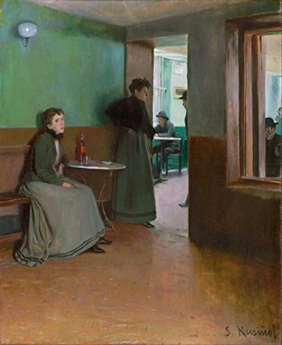 El Museo de salida – Santiago Rusinol – Interior de un café – Impresión de póster