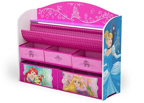 Delta Children Deluxe Book & Toy Organizer, Disney Princess Disney Princess Bedroom Furniture