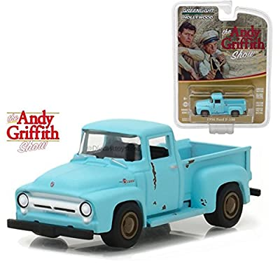 Greenlight 1:64 Hollywood Series 17 - The Andy Griffith Show - 1956 Ford F-100 44770-E DIECAST Blue: Toys & Games