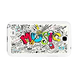 Ultra Thin Hybrid Colorful Case Cover Skin for Samsung Galaxy Note 2 N7100 Cute Cell Phone Back Case Skin (cool music BY636) WANGJING JINDA