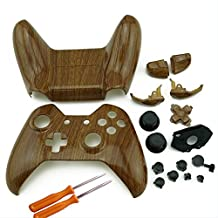 WPS XBOX One Custom Hydro Dipped Wood Grain Replacement Housing Shell Kits with Buttons and T8 & T6 Screw and Screwer For Controller by wps