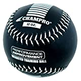 Champro Training Softball, Package (Black, 12-Inch/12-Ounce)