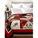 C&F Home Holiday Patchwork Quilt, Red/Black/Multi, Full/Queen'