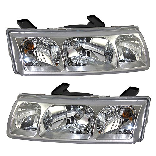 - Driver and Passenger Headlights Headlamps Replacement for Saturn 22730381 22730382 AutoAndArt
