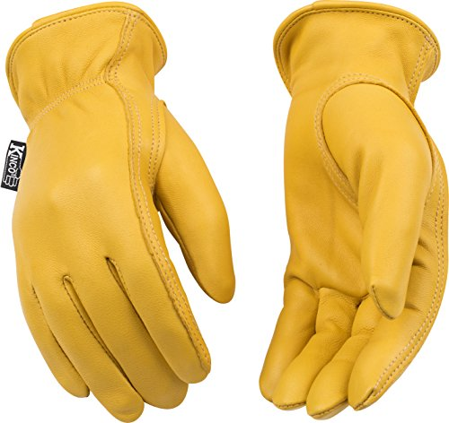 Kinco 90W Unlined Premium Grain Deerskin Leather Driver Women's Glove, Work, Small, Golden (Pack of 6 Pairs) by KINCO INTERNATIONAL