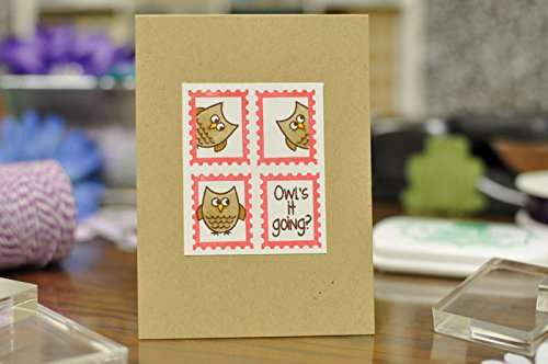 Postage2Stamp Sentiments Cute Small Animal Stamps for Card-Making and Scrapbooking Supplies by The Stamps of Life