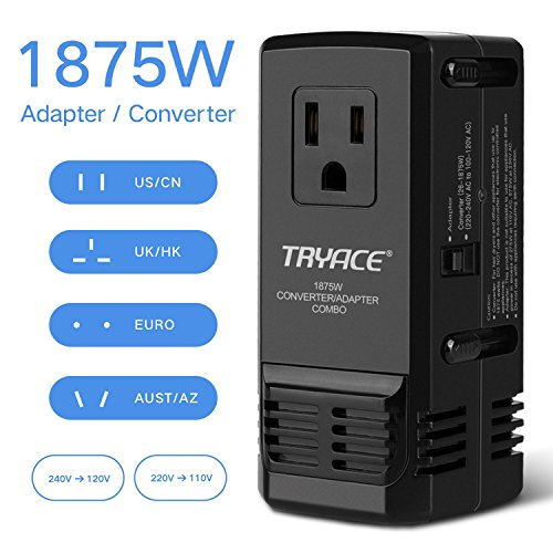 TryAce 1875W Universal Travel Adapter and Converter Combo 24
