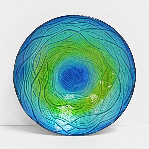 WELLAND Hand Painted Decorative Glass Dish, Round