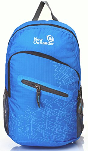 Outlander Packable Handy Lightweight Travel Hiking Backpack Daypack-light Blue
