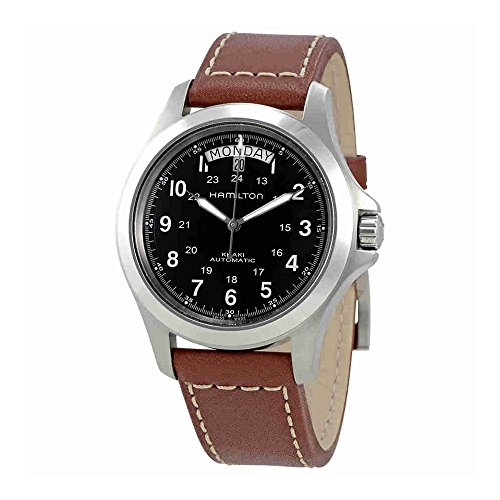 Hamilton Men's H64455533 Khaki King Series Stainless Steel Automatic Watch with Brown Leather (Hamilton Pilot)