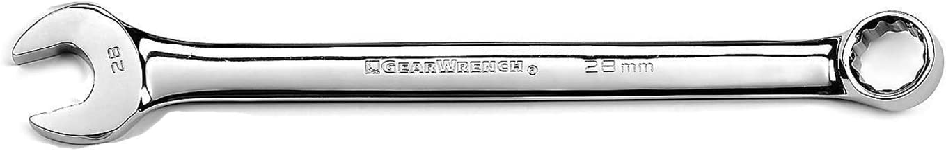 GEARWRENCH 12 Pt. Long Pattern Combination Wrench, 28mm - 81753