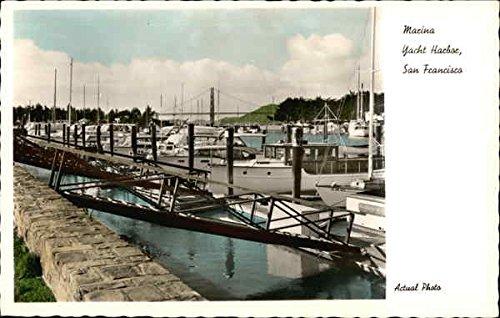 Marina, Yacht Harbor San Francisco, California Original Vintage Postcard