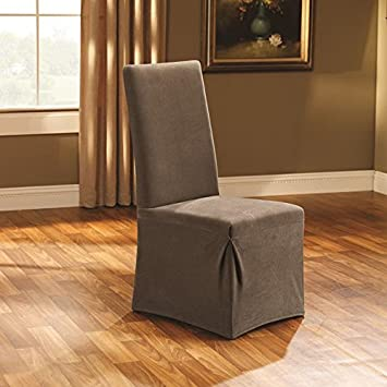 Sure Fit Stretch Pique   Dining Room Chair Slipcover   Taupe (SF35573)