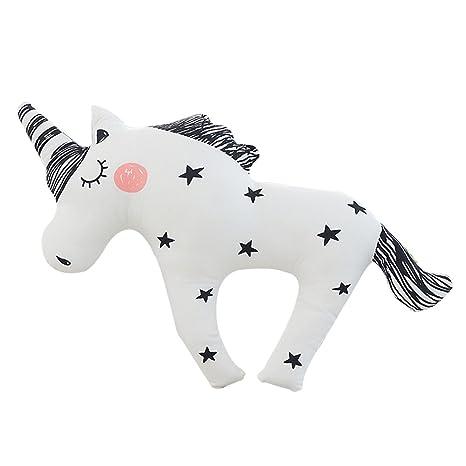 Dibujos animados Unicorn almohada de peluche Emoji juguetes para bebé Niños Regalo o Decoración para el hogar