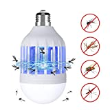 Meccion Bug Zapper Light Bulb Electronic Mosquito Insect Fly Trap Killer, 15W/E27 Mosquito