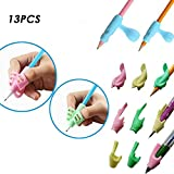 KOBWA Pencil Grips, 3PCS/13PCS Set Children Adults Pencil Holder Pen Writing Aid Trainer Grip Posture Correction Tool New for Kids Students Preschoolers Kindergarten Utensils.