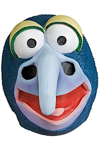 [The Muppets Deluxe Adult Gonzo Overhead Latex Mask, Blue, One Size] (Gonzo Adult Costumes)