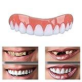 Sumanee Comfortable Natural Silicone Perfect Smile Veneers Men Women Teeth Upper Cosmetic Veneer Tooth Cover Beauty Tool Teeth Whitening a