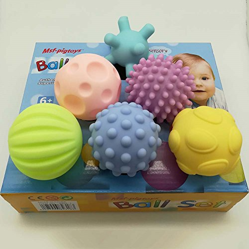 Bohonan Baby Puzzle Hand Grip Ball Sensory Hand Balls Toy Textured Multi Ball