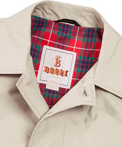 Baracuta Herren Mantel Baumwolle Warme Jacke Unifarben, Größe: 54, Farbe: Beige