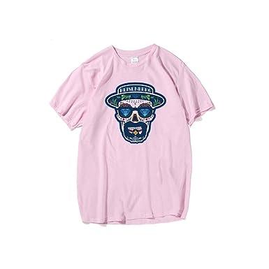 HANHENT HH Cotton Round Neck Pink Men T Shirt: Amazon.es: Ropa y ...
