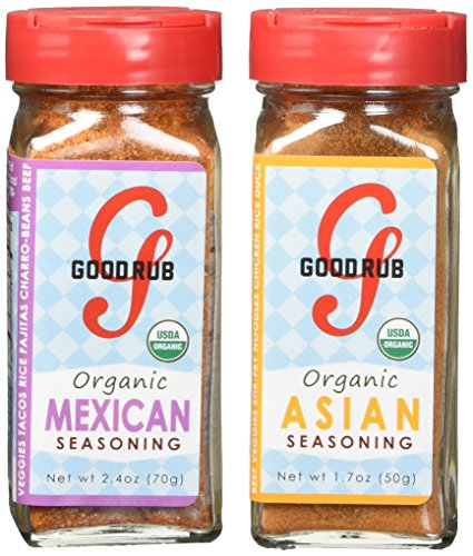 Good Rub Organic Seasonings, Mexican and Asian, 4.2 Ounce