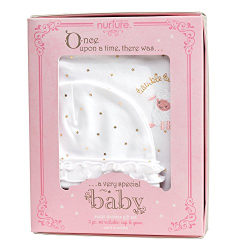 C R  Gibson Hush Little Baby Newborn Gown Set For Girls  Fits Sizes 0 3 Months  Baby Dumpling   Twinkle Twinkle