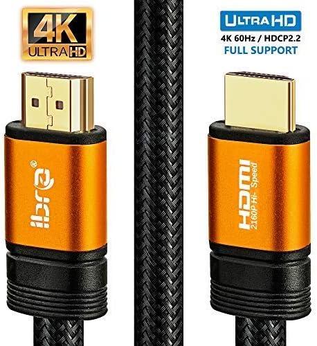 IBRA 2M Orange Cable de HDMI de Ultra Alta Velocidad Cable de 18Gb ...