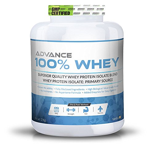Advance Nutratech 100% Whey Protein Powder 2kg vanilla with multivitamin by ADVANCE NUTRATECH