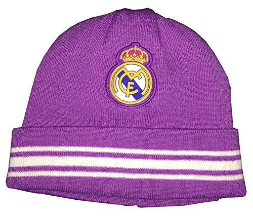 Real Madrid FC Team Beanie (Ray Purple/White - reversible) style A