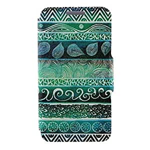 SHOUJIKE Kinston Green Totems Pattern PU Leather Full Body Cover with Stand for iPhone 6 Plus