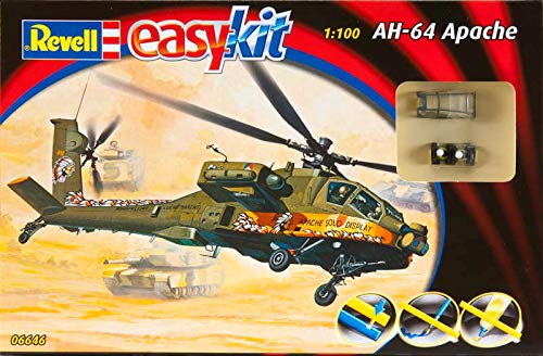 Revell 06646 AH-64 Apache Helicopter 1/100 Scale Model Kit