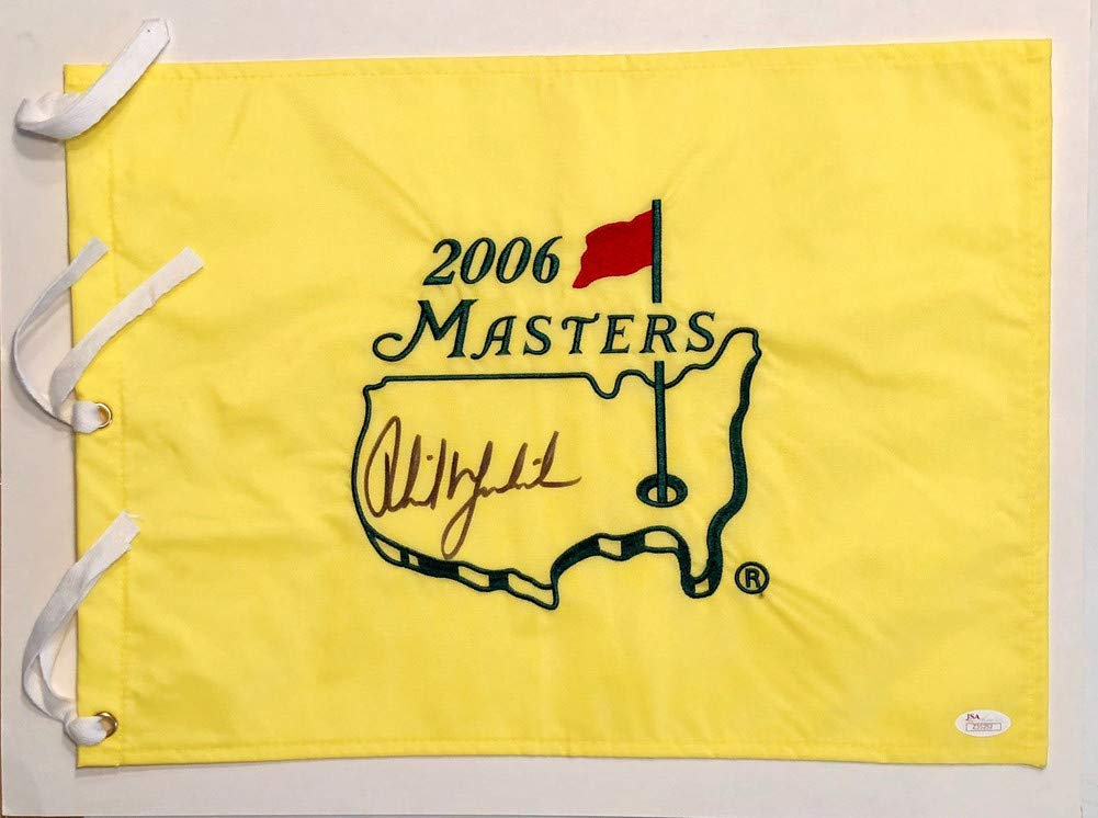 Phil Mickelson Signed Autograph 2006 Masters Flag Sports Memorabilia JSA