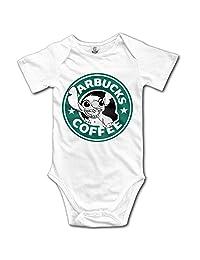 Novelty Lilo And Stitch Starbucks Coffee Baby Onesie Short Sleeve Bodysuit