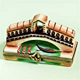 Limoges French Hand Painted Venice Rialto Brige with Gondola Porcelain Box
