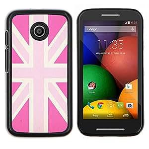 Dragon Case - FOR Motorola Moto E (1st Gen, 2014) - uk pink gay great Britain flag country - Caja protectora de pl??stico duro de la cubierta Dise?¡Ào Slim Fit