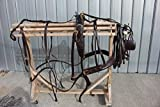 New Finest Russet Brown Horse Size Driving Harness with Brass Hardware
