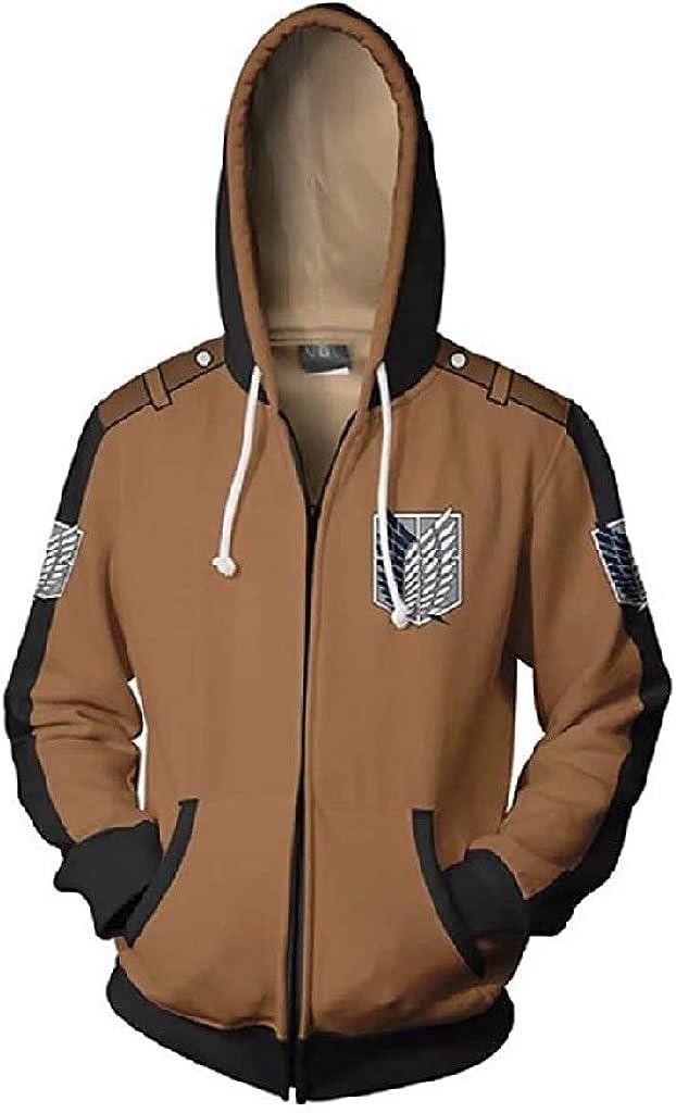 xHxttL Attack on Titan Sweat /à Capuche Shingeki no Kyojin Scouting Legion Zip-up Jacket Pull /à Capuche Sweat /à Capuche Anime /à Manches Longues Cape Cosplay V/êtements pour Hommes Femmes