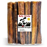 Downtown Pet Supply 6'' inch Premium All Natural Beef Bully Sticks, JUMBO EXTRA THICK Dog Dental Chew Treats - Grain Free, High in Protein, Low in Fat (10 Pack)