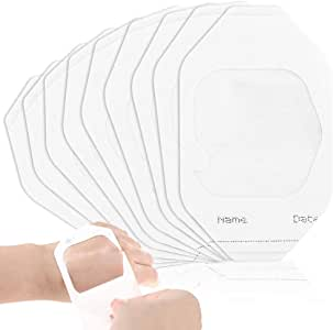 """110PCS Waterproof Transparent Film Dressing 2 3/8"""" x 2 3/4"""", Wound Cover Bandage Tape,Sterile Protection, Adhesive First Aid Bandage Pads Fits for Post-Surgical, Medical Appliance"""