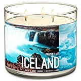 Bath & Body Works- 3 Wick Scented Candle - Frozen Lake – ICELAND - 14.5 Ounce