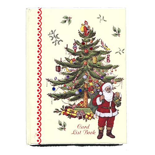 (Christmas Card Address List Record Book with Send and Receive Tracker, Santa and Christmas Tree Design)