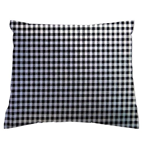 Black And White Gingham Baby Bedding - SheetWorld Crib/Toddler Percale Baby Pillow Case - Black Gingham Check - Made In USA