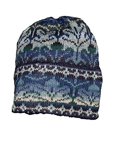 - Invisible World Women's 100% Alpaca Wool Hat Knit Beanie Winter Winter Blue Lg