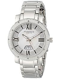 Akribos XXIV Women's AK507SS Diamond Accented Swiss Quartz Stainless Steel Bracelet Watch