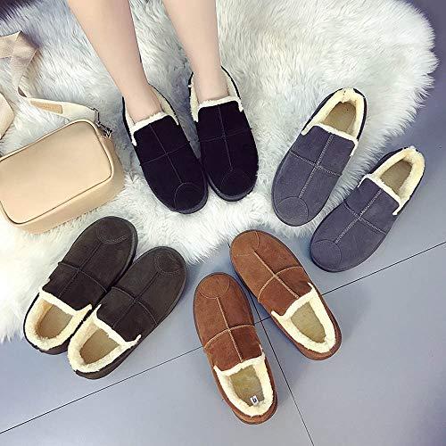 Cómodos Planos Perezosos Planas Mujer Zapatos Botas Tubo Botines w1qY4nxpR