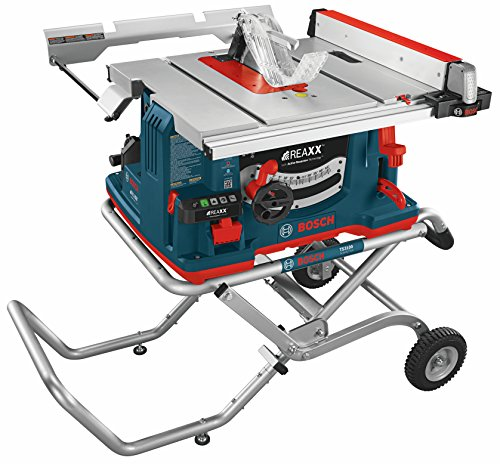 Bosch GTS1041A-09 REAXX Flesh-Detecting Jobsite Table Saw with Gravity-Rise Wheeled...