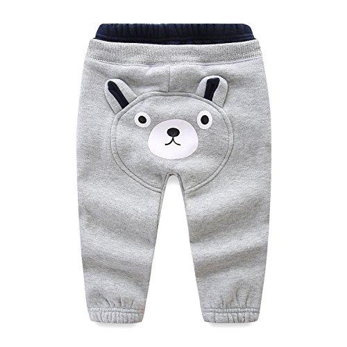 Mud Kingdom Kids Fleece Jogger Pants Winter Cute Bear
