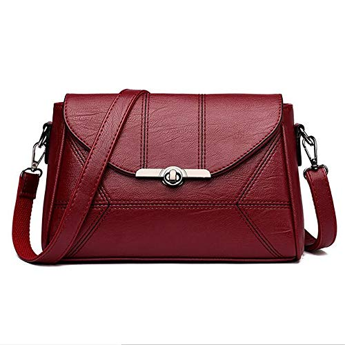De Black Messenger Hombro Bolso LANGUANGLIN Salvaje Bag Edad PU Portátil Red Simulation Temperament Leather Bag Bolso De De Mediana Damas nUnx5rW
